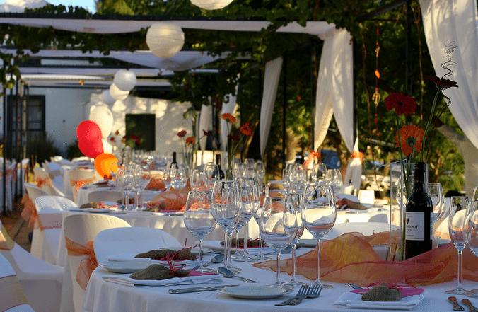 Bruiloft decoratie hier heb ik mijn ideeën vandaan skyfly